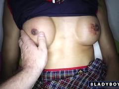 Thai ladyboy Natty POV fucking session