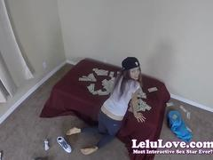 Amateur girl gets fingered and fucked on a bed full of cash money