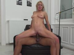 Hot MILF Kathy Anderson goes interracial