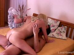 Blonde Amateur Rides Him Like A Maniac