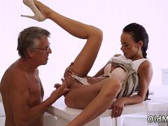 Hardcore redhead squirt Finally shes got her boss dick