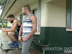 Lusty gay sex in the locker room