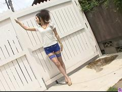 Dirty play with a neighbour leaves Yui Komine with a stretched cunt - More at Slurpjp.com