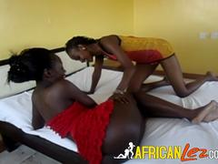 Teen African lesbians and a strapon
