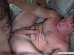 Hairy bear anally slammed bareback