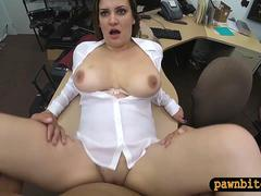 Business woman gets nailed by pawn dude at the pawnshop