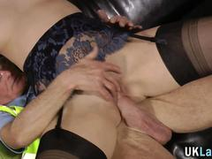 stockings brit pounded mature extreme 1