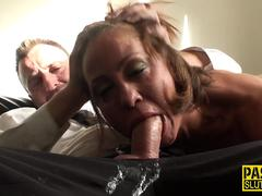 Real bdsm whore throating