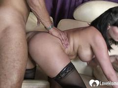 MILF in stockings hungers for his schlong