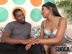 Black Beauty Sizi Sev Has Her Mouth and Cunt Invaded by a BBC