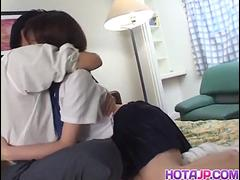 Horny teen Yui Saotome gives a steamy head before taking cum - More at hotajp.com