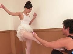 Miu Kimura stands for cock in superb ballerina porn show  - More at 69avs.com