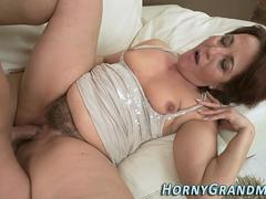 Hot granny cum covered