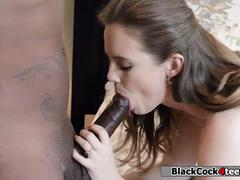 Teen Devon Green gets her wet pussy fucked by customer black guy