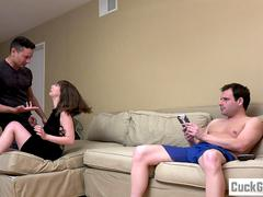 Sissy husband watching Shae Celestine and her lover