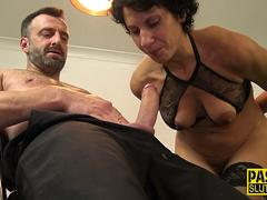 Bound milf gets released