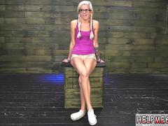 Caught in self bondage first time Halle Von is in town on vacation with her boyfriend