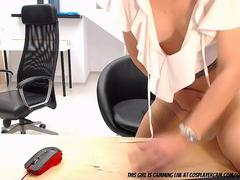 Secretary Going Nuts At Office....