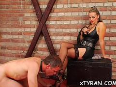 hot babe dominates her slave video film 1