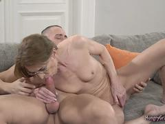 Skinny Mature Slut Fucked by a Stud