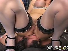 femdom girls smother a dude segment video 1