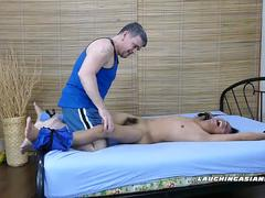 Asian Boy Rave Spreadeagled and Tickled
