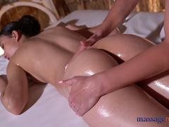 Massage Rooms Anya Krey rubbed down by big tits blonde Nathaly Cherie