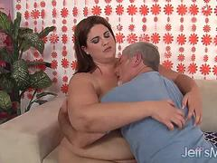 Heavyweight Hoochie Erin Green Is Fucked Hard by an Older Guy
