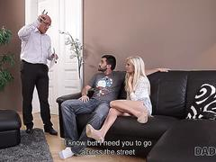 DADDY4K. Mature businessman cums in blondes mouth to finish hot sex