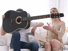 Teeny Lovers - Ria - Guitar lesson ends with a fuck