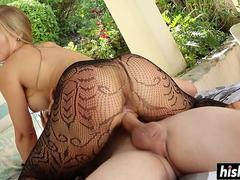 Fucking outdoors makes Nicole Aniston happy