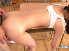 Kamikawa Sora Fucked In Class In Her Debut AV Scene Really Cute Perfect Teen Finger Squirted