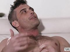 Tranny Marissa Minx takes a horny cock in her mouth