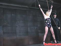 Submissive beauty being toyed before cumming