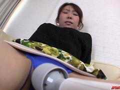 Mizuki Tsukamoto gets large cock to damage her furry cunt - More at Japanesemamas.com