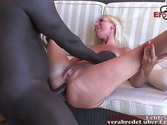 German blonde amateur mother natural tits fuck anal with big black cock bbc