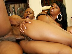 Black Slut Bunny Knight Takes His BBC in Every Single Hole