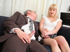 Candy doesnt get much choice in the matter but she is certainly turned on by her tricky old teacher