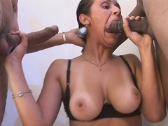 Stunning latina mature Arianna first gang bang