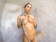 Horny Lesbians on their hot shower sex
