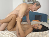 Graceful brunette craves to get it on with this handsome fellow in multiple positions