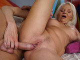 Granny desires to swallow that huge cock and then get it between her legs in diff poses